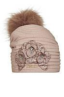 Шерстяная шапочка для девочки Франка, фото 1