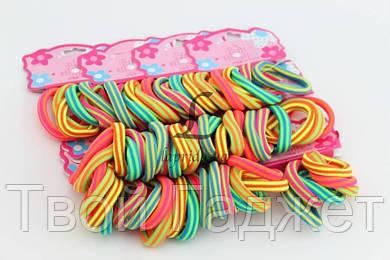 ОПТ/Розница Резинка для волос разноцветная в горизонтальную полоску