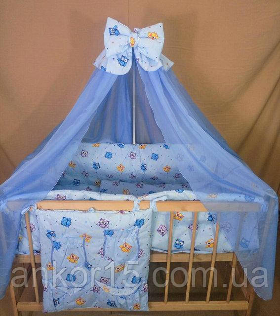 Детское постельное белье в кроватку Совята 8 в 1