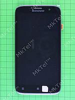 Дисплей Lenovo A850 с сенсором, панелью Оригинал Черный