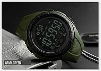 • Гарантия! Skmei(Скмей) 1326 Army  Green | Cпортивные мужские часы !