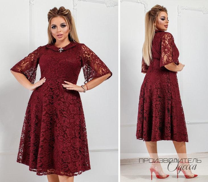 Нарядное гипюровое женское платье раз. 50-64