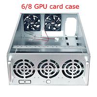ANGEL корпус закрытый фермы на 8 GPU, майнинг, металл 1мм,на 5 кулеров,на 1 блок питания, 11кг + кулеры сервер