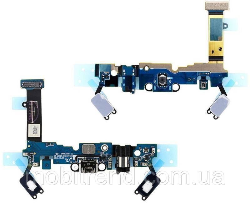 Шлейф Samsung A510F Galaxy A5(2016) with charge connector and components