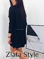 Платье мини свободного кроязауженными рукавами, фото 1
