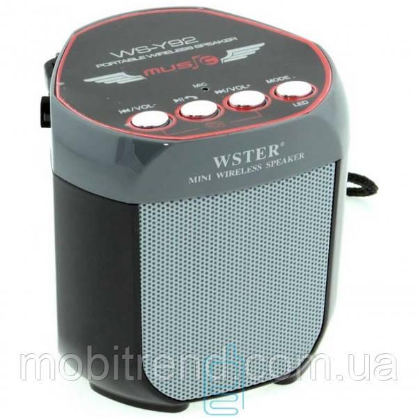Портативная колонка WSTER WS-Y92 LED черная