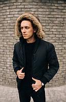 Короткая мужская теплая куртка.