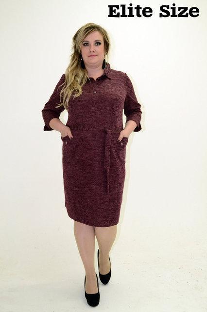 Осеннее платье большого размера р. 50-58