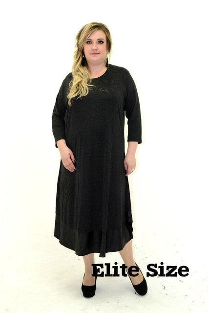 Трикотажное женское платье большого размера р. 52-56 58-62 64-66