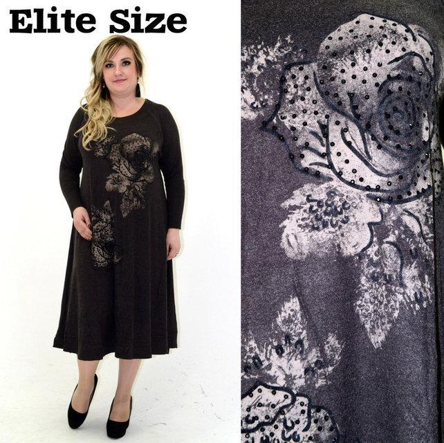 Трикотажное женское платье большого размера р. 56-60 62-66 68-72