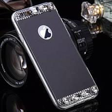 Силиконовый чехол для Apple iPhone 6 / 6S Black с камнями, фото 2