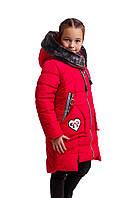 Зимняя куртка парка для девочки  подростка  34-44 красный