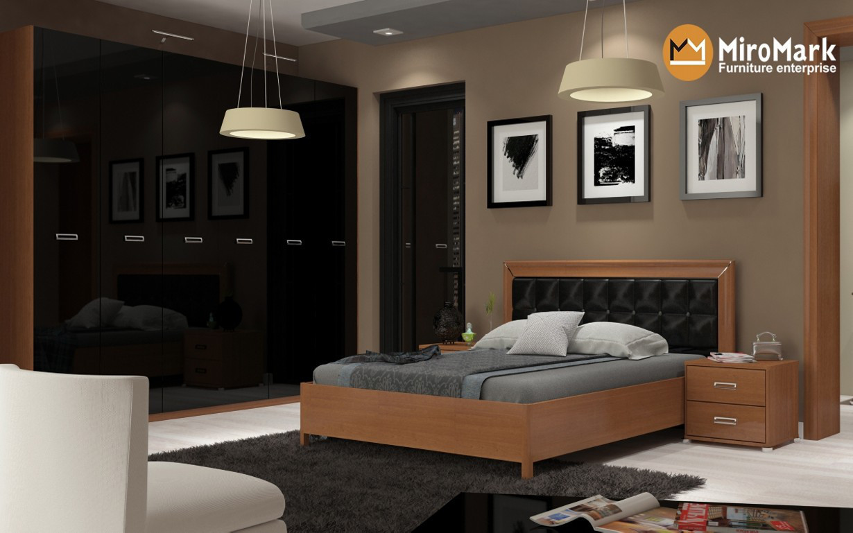 Кровать 160х200 Белла ( мягкая спинка без каркаса) Миро-Марк