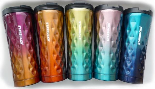 Термокружка Starbucks (Старбакс) H 276 500 мл, 3D Хамелеон