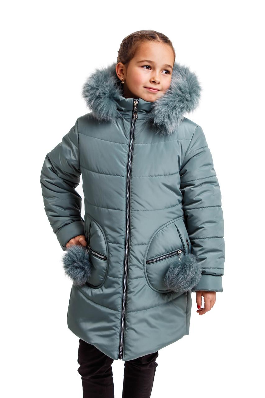 Детский зимний пуховик для девочек интернет магазин 34-42 валютный