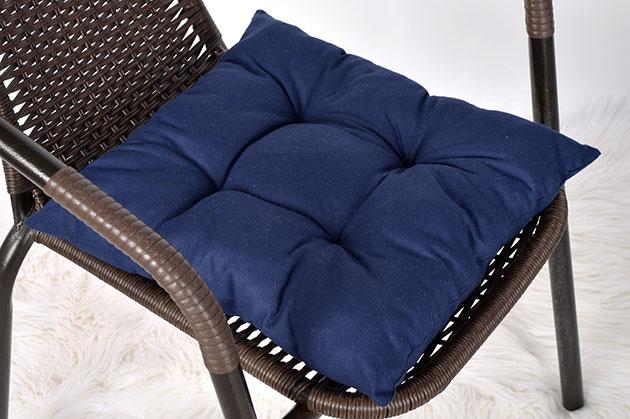 """Мягкая подушечка на стул """"Dark Blue"""""""