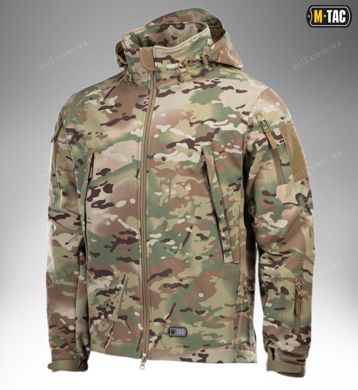 Демисезонная тактическая куртка M-TAC Soft Shell (Multicam)