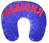 Автомобильная подушка-рогалик подголовник дорожная с логотипом, фото 10