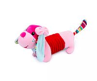 Розовая собака, щенок при наклоне рыкает. mamamiya&papas, фото 1
