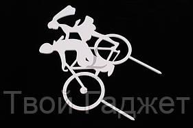 """ОПТ/Розница Топпер """"Пара на велосипеде"""" с акриловым покрытием"""