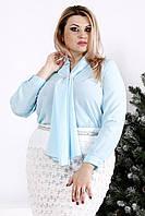 18d31f9a9fb9 Сиреневая шифоновая блузка больших размеров 0866, цена 580 грн ...