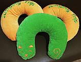 Подушка автомобильная дорожная подголовник под шею  Рогалик, фото 3