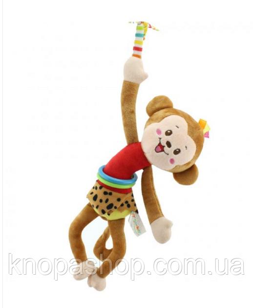 Мягкая Подвеска Мартышка Happy Monkey 30 См