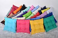 Пошив мягких подушек на стул из натуральной ткани