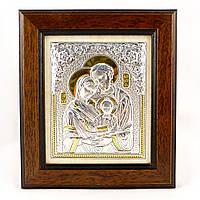 Икона серебряная Святое семейство 14 х 17 см