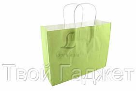 ОПТ/Розница Подарочный пакет однотонный горизонтальный (салатовый)