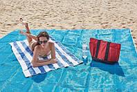 Пляжная подстилка анти-песок Sand Free Mat (200x200)   пляжный коврик   коврик для пикника   коврик для моря