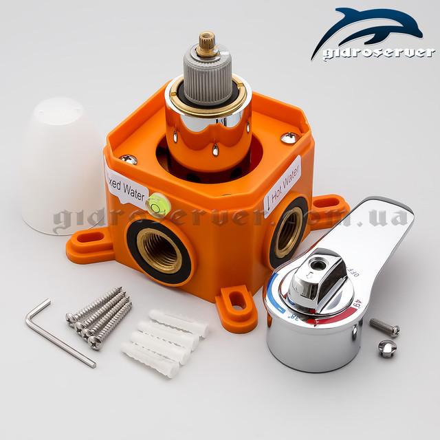 Термостатический смеситель скрытого монтажа SVTB-01 используется в душевых системах с одним действующим устройством для приема душа.