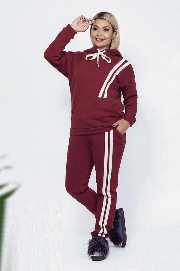 Стильный трикотажный спортивный костюм 37939 (48–58р) в расцветках