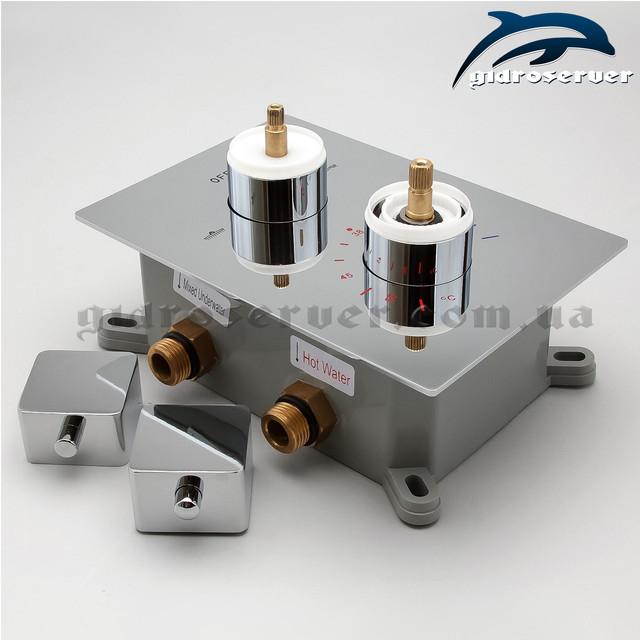 Термостатический смеситель для душа скрытого монтажа KVTB-02 встраиваемый в стену сантехнического узла.