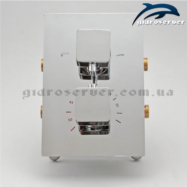 Смеситель для душа с термостатом KVTB-03 скрыто монтируется в стену сантехнического узла.