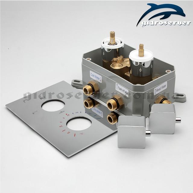 Термостатический смеситель скрытого монтажа KVTB-03 для душевых систем, гарнитуров, программ.