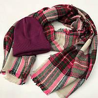Стильный молодёжный набор комплект шарф+шапка №3