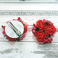 Заколка Трояндочки (голубі), фото 1