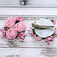Заколка Трояндочки (рожеві), фото 1