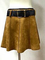 Юбка мини с поясом под замшу., фото 1