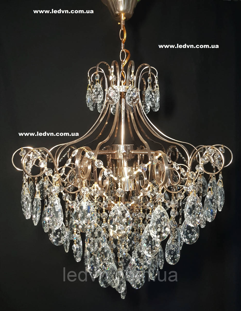 Хрустальная люстра в золоте 6 ламп 1144