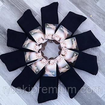 Шкарпетки чоловічі махрові бавовна Шугуан, розмір 42-48, чорні, А9836
