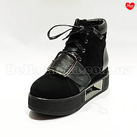 Женские ботинки спереди пряжка , фото 1