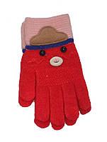 Перчатки для девочки красные