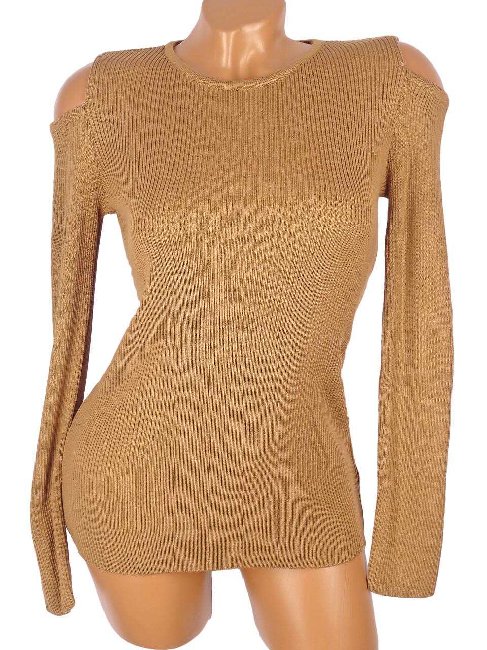 Женский пуловер с открытыми плечами (в расцветках)