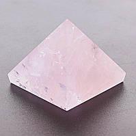 Пирамида сувенир Розовый Кварц h-3см b-4см