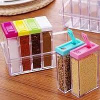 Кухонная подставка для хранения приправ и специй с 6-ю емкостями Seasoning Six Piece Set, фото 1