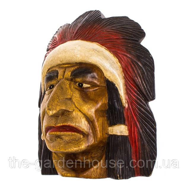 """Маска """"Индеец"""" из тикового дерева 30 см"""
