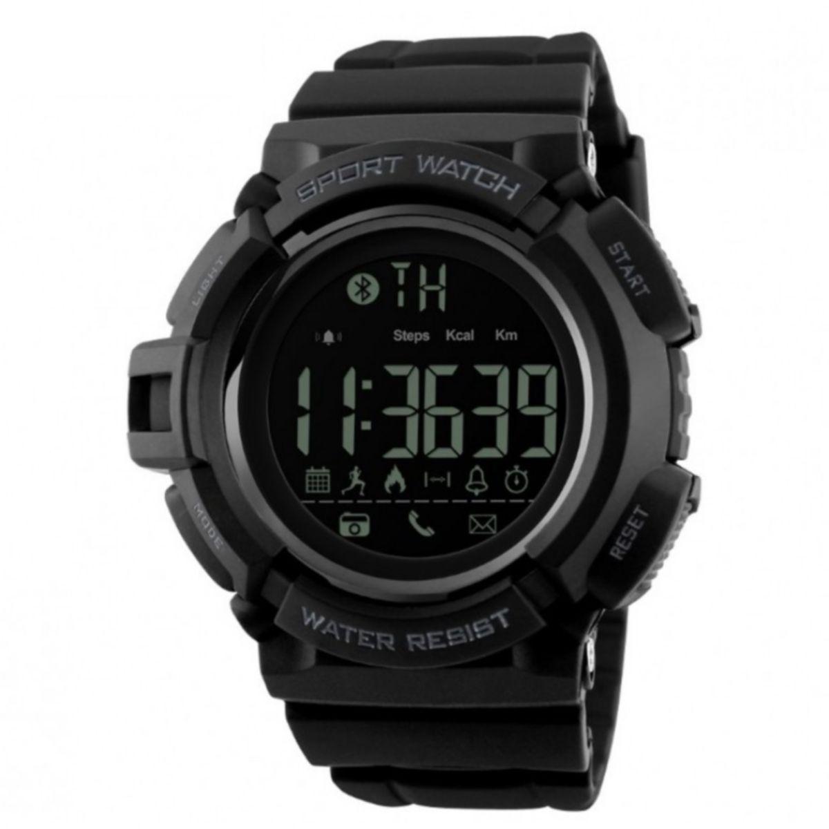 Skmei 1245  черные мужские спортивные смарт часы