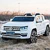 Детский двухместный электромобиль Volkswagen M 3894 EBLR-1: 4x4, 7 км/ч, EVA, кожа - БЕЛЫЙ - купить оптом